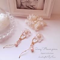 2wayぷっくりお花のピアス/薄ピンク - Espoir et la lune
