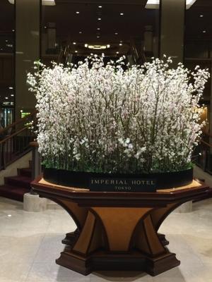 ロビーを飾る花 -