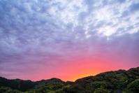 夕焼け空 - 雲空海