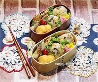ストウブでわらびの炊き込みご飯おにぎり弁当♪ - ☆Happy time☆