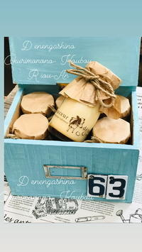 牛乳瓶の木箱に - *田園菓子のおくりもの工房…  里桜庵Riou-an