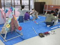 2021年4月新聞紙テント制作(^^♪ - 大阪市北区こども絵画教室 こどもアトリエからふる