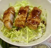 ソースカツ丼、きんぴらごぼう - めでこのゴハンノオト