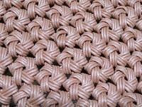 3本取りの花結び編み、底面のできあがり - あれこれ手仕事日記 new!