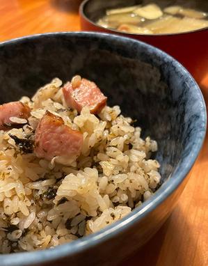 鈴木保奈美の「海苔とベーコンの炊き込みご飯」作ってみたよ?、リカ、ちょっと濃いよ…♪ - Isao Watanabeの'Spice of Life'.