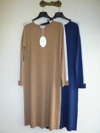 MOU【モウ】ビスコース&ポリエステルニット ラインラウンドネックワンピース - Higashi CLOTHIER MADE IN ITALY BLOG