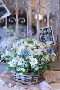 Basicクラスナチュラルラウンドアレンジメント - Le vase*  diary 横浜元町の花教室