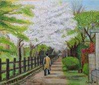 油彩「旅立ち」 F10  2021年 4月 - 中島たかじ 絵の世界2