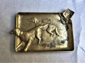 真鍮犬のレリーフの灰皿 - スペイン・バルセロナ・アンティーク gyu's shop