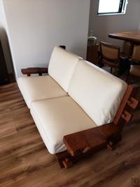 一枚板けやきテーブル、原木ソファークッション張替え - 一枚板テーブル、無垢材家具 原木家具の祭り屋
