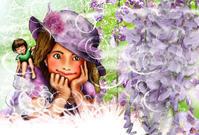 ★藤の花が咲いていますね - 羽根をつけて
