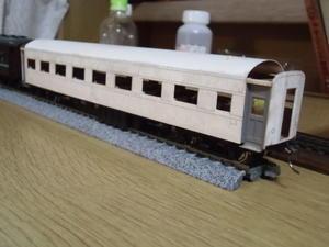 16番紙製オロ36 その5 車体組み上げ、丸屋根施工準備(発泡スチレンボードとウレタンのテスト) - 新湘南電鐵 横濱工廠3