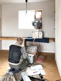 FPの家、気密測定・室内環境測定の様子です! - 現場日誌