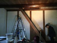 漆喰塗りと筍掘り - あこば
