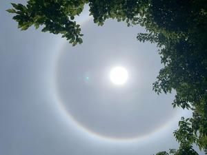 日輪?虹のような光の輪? - 心のままに
