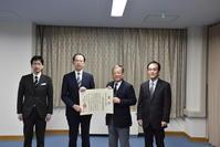 県知事への受賞報告 - 漆器もある生活