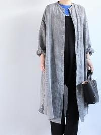 R&D.M.Co-  DENSELY LINEN GATHER SLEEVE DRESS - 『Bumpkins putting on airs』