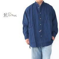orslow [オアスロウ] LOOSE FIT STAND COLLAR SHIRT (UNISEX) [03-8060-01] ルーズフィットスタンドカラーシャツ・MEN'S / UNISEX - refalt blog