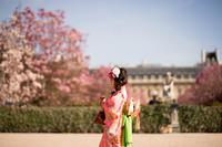 七五三パリ撮影 - 着物でパリ