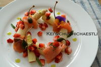 春を感じる1品~~: )苺とアスパラガスの前菜 - kei's-Chuchichaestli