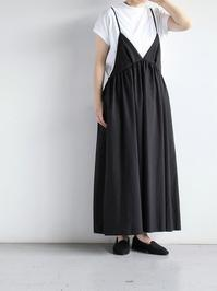 unfilwashed cotton-poplin camisole dress - 『Bumpkins putting on airs』