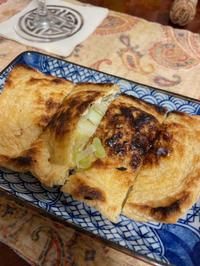 油揚げ使い切り、コシアブラの天ぷら、とシュワシュワ - 地上50mでも野菜はできました、そして3mへ