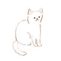 白い猫 - イラストレーション ノート