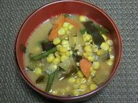 とうもろこし入り野菜煮 - 食写記 ~Shokushaki's Blog~