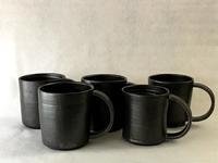 黒マグカップ、試作完成 - 皿 皿 碗 碗;週末陶芸