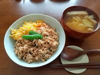 5/9三色丼 - かえるネコその2