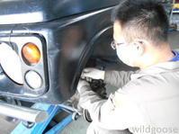 JA22Wジムニー車検整備中ヾ(๑╹ꇴ◠๑)ノ - ★豊田市の車屋さん★ワイルドグース日記
