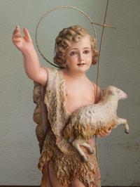 幼い洗礼者ヨハネと神の子羊/H508 - Glicinia 古道具店