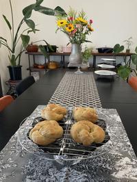 同僚お二人様レッスン - カフェ気分なパン教室  *・゜゚・*ローズのマリ