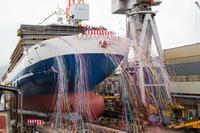 名門大洋新造船「フェリーきょうと」進水 - 船が好きなんです.com