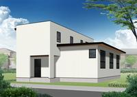 「十勝の家」パース - OCM一級建築士事務所