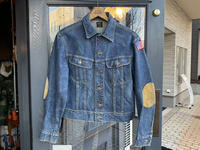 ~70's Lee 101-J denim jacket (hand painted) - BUTTON UP clothing