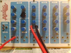 モジュール間の配線の確認 ミキサ 外部入力の確認 - シンセサイザーを作っちゃえ!!!