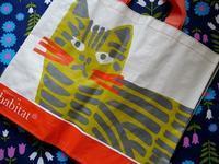 ハビタの猫柄エコバッグ - Der Liebling ~蚤の市フリークの雑貨手帖3冊目~