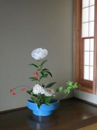 イチハツ・サツキ・シャクヤクの花を活ける - 活花生活(2)