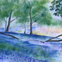 陶芸家サラさんの休日、ブルーベルの中で印象派絵画を描きました - ブルーベルの森-ブログ-英国のハンドメイド陶器と雑貨の通販