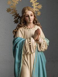 聖母マリアの連祷 36cm /H462 - Glicinia 古道具店