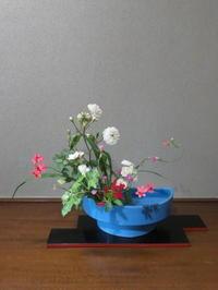 坪庭で遊ぶ花々 - 活花生活(2)