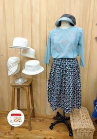 大判スカーフをお持込み頂いてティアードスカートを作りました。 - warmheart*洋服のサイズ直し・リフォーム*