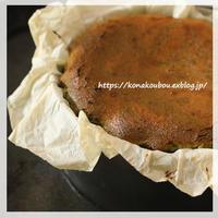 6月のお菓子・抹茶マーブルのバスクチーズケーキ - 粉工房通信