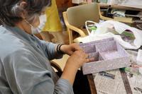 牛乳パック手芸~ 迷路もできる裁縫道具箱 ~ - 鎌倉のデイサービス「やと」のブログ