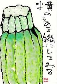 ズッキーニ・横のものを - 北川ふぅふぅの「赤鬼と青鬼のダンゴ」~絵てがみのある暮らし~