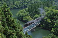梅雨の晴れ間の青い鉄橋- 2008年・只見線 - - ねこの撮った汽車
