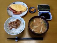 納豆と淡竹の味噌汁な朝餉 - ぶん屋の抽斗