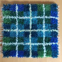 完成!チェアマット - 手染めと糸のワークショップ