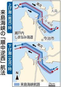 来島海峡の変則的航路「順中逆西」 - 船が好きなんです.com